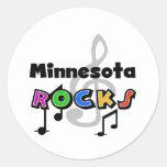 Rocas de Minnesota Etiquetas Redondas