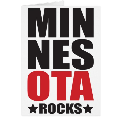 ¡Rocas de Minnesota! Regalos y ropa del alcohol de Tarjeta De Felicitación