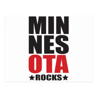 ¡Rocas de Minnesota! Regalos y ropa del alcohol Postal