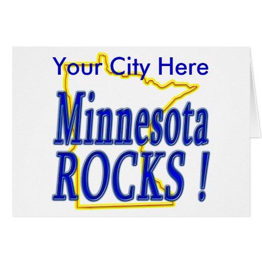 ¡Rocas de Minnesota! Tarjeta De Felicitación
