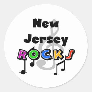 Rocas de New Jersey Pegatina Redonda