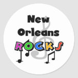Rocas de New Orleans Pegatina Redonda