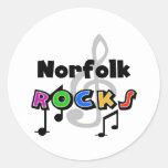 Rocas de Norfolk Pegatina Redonda
