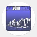 ¡Rocas de Nueva York! Pegatina Redonda