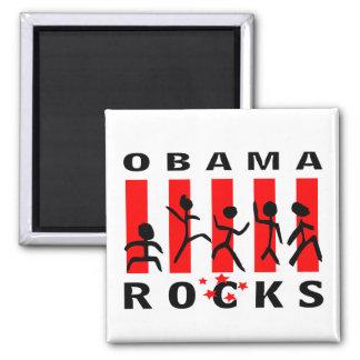 Rocas de Obama Imán Cuadrado