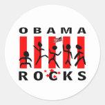 Rocas de Obama Pegatinas Redondas
