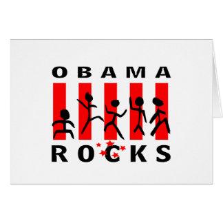Rocas de Obama Tarjeta De Felicitación