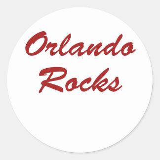 ¡Rocas de Orlando!!! Pegatina Redonda
