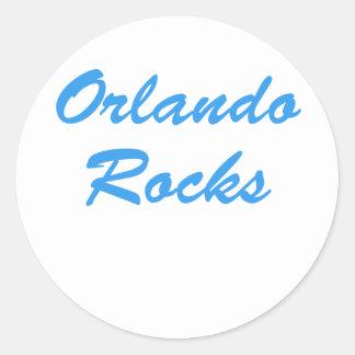 Rocas de Orlando Pegatina Redonda