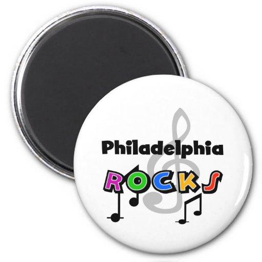 Rocas de Philadelphia Imán Redondo 5 Cm