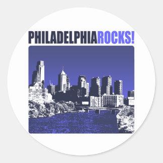 ¡Rocas de Philadelphia! Pegatinas Redondas
