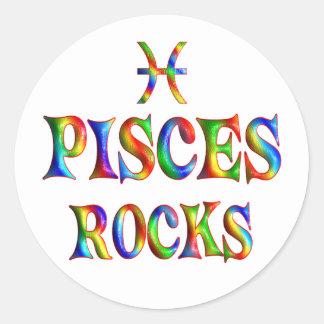 Rocas de Piscis Etiquetas Redondas