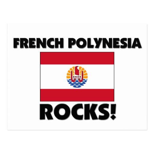 Rocas de Polinesia francesa Postal