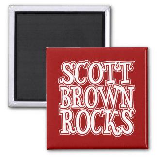 Rocas de Scott Brown Imán Cuadrado