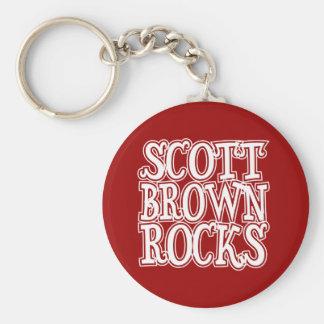 Rocas de Scott Brown Llaveros Personalizados