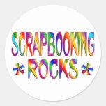 Rocas de Scrapbooking Etiqueta Redonda