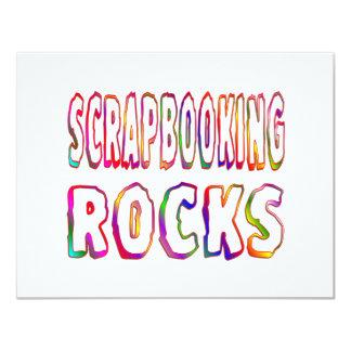 """Rocas de Scrapbooking Invitación 4.25"""" X 5.5"""""""