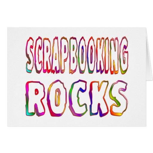 Rocas de Scrapbooking Tarjeta De Felicitación