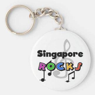 Rocas de Singapur Llavero Redondo Tipo Pin