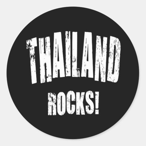 ¡Rocas de Tailandia! Etiqueta Redonda