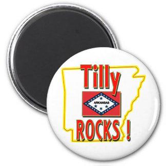 ¡Rocas de Tilly! (rojo) Imán Redondo 5 Cm
