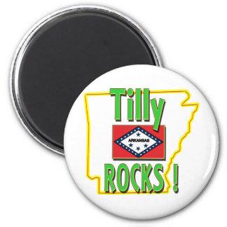 ¡Rocas de Tilly! (verde) Imán Redondo 5 Cm