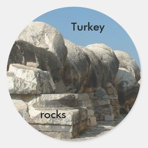 Rocas de Turquía Pegatina Redonda