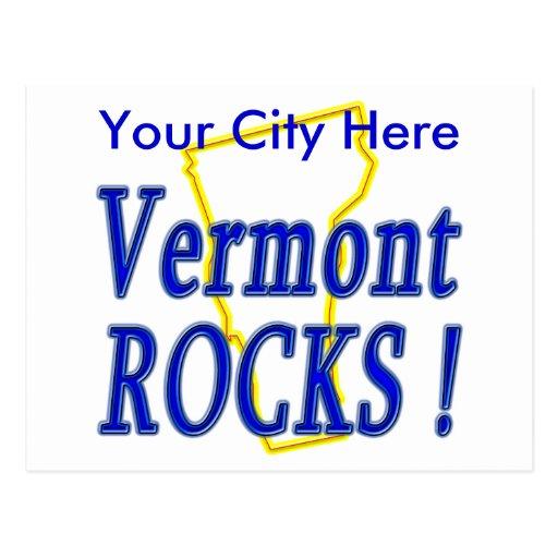 ¡Rocas de Vermont! Postal