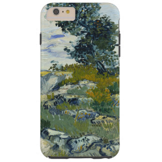 Rocas de Vincent van Gogh con bella arte del roble Funda Para iPhone 6 Plus Tough