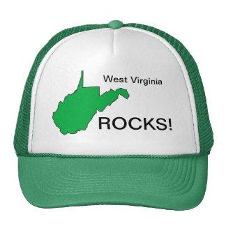 ¡ROCAS de Virginia Occidental! Casquillo Gorro De Camionero