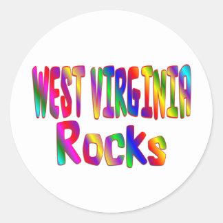 Rocas de Virginia Occidental Etiquetas Redondas