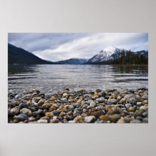 Rocas de Wenatchee del lago Póster