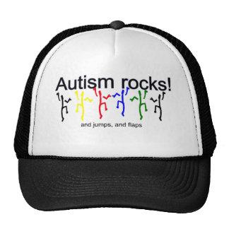 ¡Rocas del autismo! Gorro De Camionero