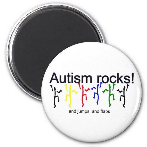 ¡Rocas del autismo! Imanes De Nevera