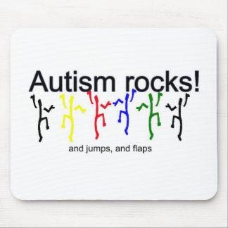 ¡Rocas del autismo! Alfombrillas De Ratón
