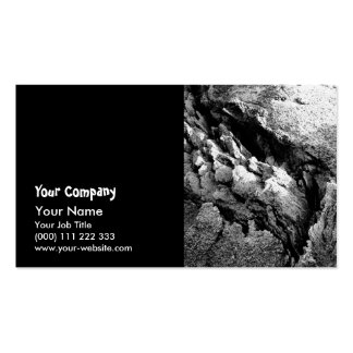 Rocas del basalto tarjeta personal