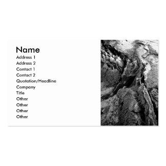 Rocas del basalto plantilla de tarjeta personal