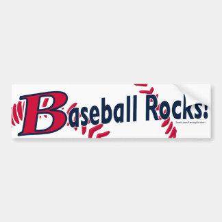 ¡Rocas del béisbol! Bumpersticker Pegatina De Parachoque