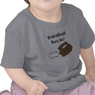 Rocas del béisbol camisetas