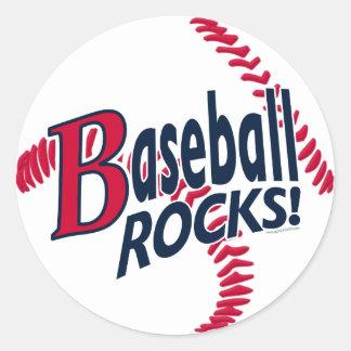 Rocas del béisbol por los estudios de Mudge Pegatinas