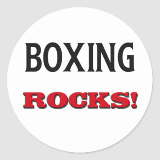 Rocas del boxeo etiquetas redondas