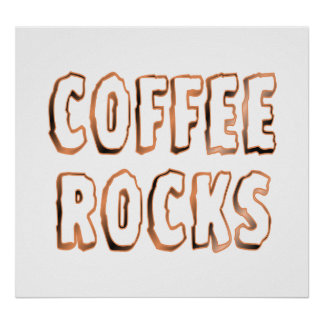 Rocas del café impresiones