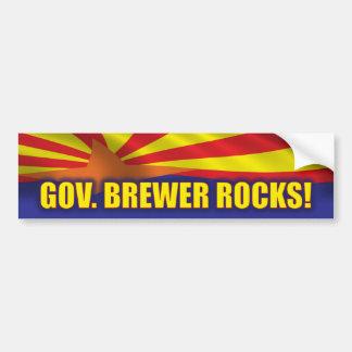 Rocas del cervecero del gobernador pegatina para auto