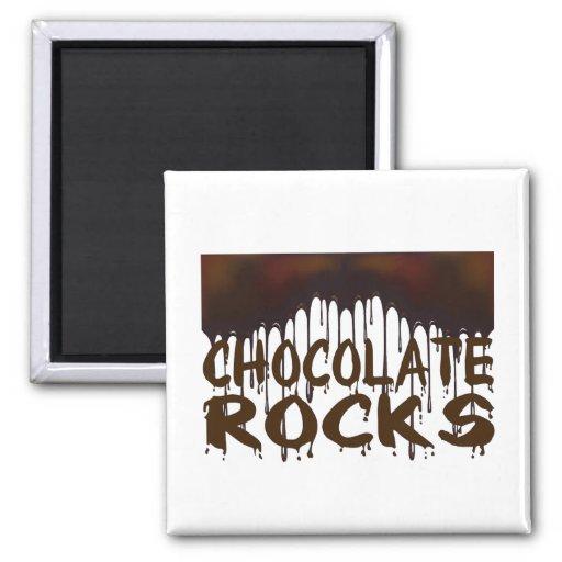 Rocas del chocolate imanes
