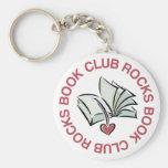 Rocas del círculo de lectores llaveros personalizados
