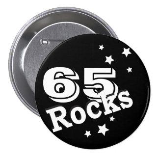 Rocas del cumpleaños de la edad el   de DIY Pin Redondo De 3 Pulgadas