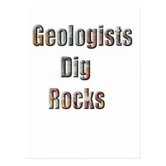 Rocas del empuje de los geólogos postal