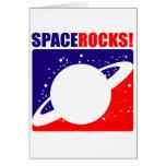 Rocas del espacio felicitacion