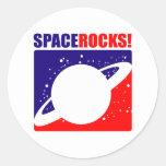 Rocas del espacio pegatinas redondas