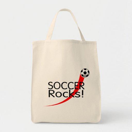 Rocas del fútbol bolsa de mano